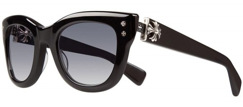 Chrome Hearts TEAR DROP JONNY I BK/FLX