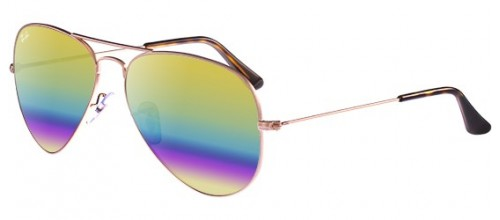 AVIATOR LARGE METAL RB 3025 MINERAL LENSES